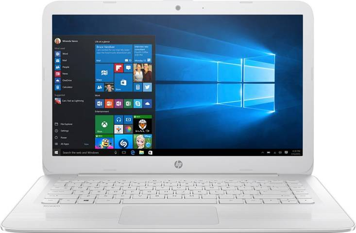 "HP Stream 14-cb021nl Bianco Computer portatile 35,6 cm (14"") 1366 x 768 Pixel Intel® Celeron® N3060 4 GB DDR3L-SDRAM 64 GB eMMC"