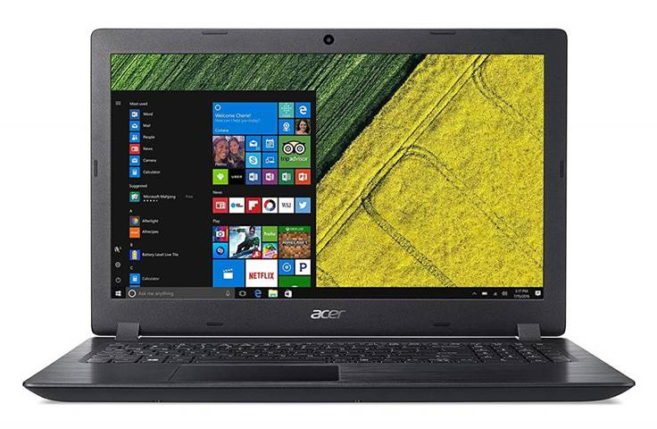 """Acer Aspire 3 A315-51-50E1 Nero Computer portatile 39,6 cm (15.6"""") 1366 x 768 Pixel 2,50 GHz Intel® Core™ i5 di settima generazione i5-7200U"""