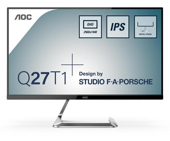 "aoc q27t1 monitor piatto per pc 68,6 cm (27"") 2560 x 1440 pixel quad hd led argento"