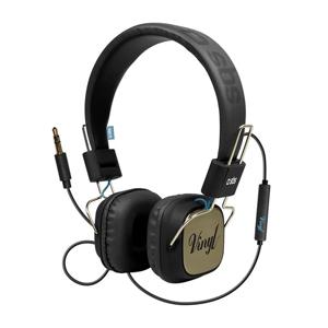 SBS Cuffia DJ VYNIL a filo stero con tasto risposta/fine chiamata e microfono, Risposta  in Frequenza 18HZ - 24KHZ  , blu