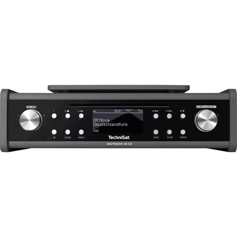 TechniSat DigitRadio 20 CD DAB+ Radio da incasso AUX, CD, FM Antracite