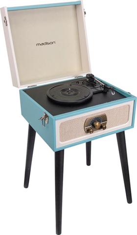 Madison Sound MAD-LPRETRO-MKII Giradischi con trasmissione a cinghia Nero, Blu