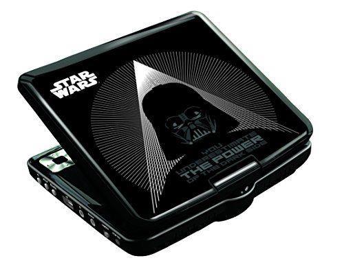 Lexibook DVDP6SW Lettore Dvd Portatile Disney Star Wars, Design Darth Vader, con Presa USB, Nero