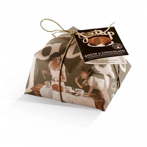 Galup Panettone Alle Gocce Di Cioccolato Incarto Color Edition 750Gr