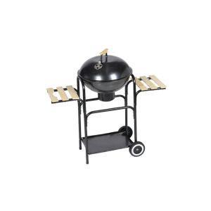 vidaxl barbecue a legna e carbone michigan xl, barbeque rotondo