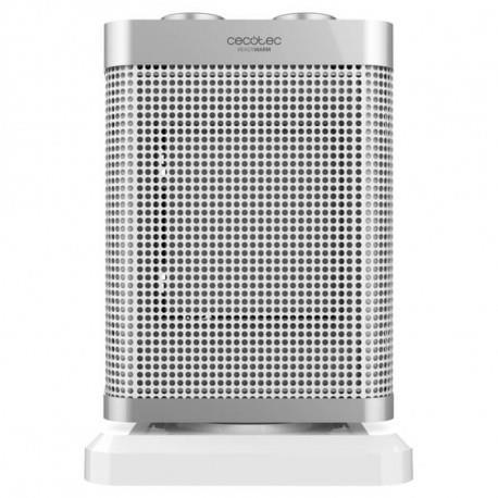 Cecotec 05309 stufetta elettrica Riscaldatore ambiente elettrico con ventilatore Interno Acciaio inossidabile, Bianco 1500 W