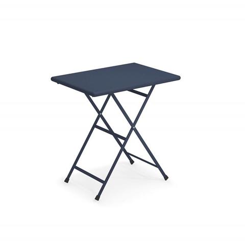 emu tavolo rettangolare pieghevole arc en ciel, blu scuro, 70 x 50 x 74 cm.  334