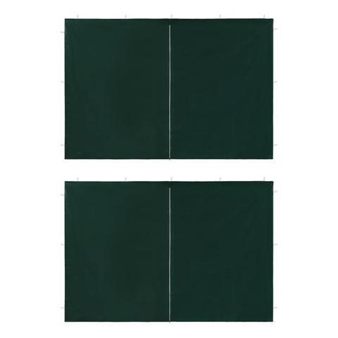 vidaxl ingresso per tendostruttura 2 pz con cerniera verde