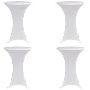 vidaxl coperture verticali per tavolo 4 pz 60 cm bianco elastico