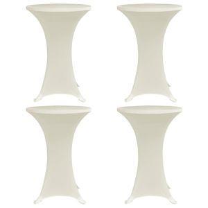 vidaxl coperture verticali per tavolo 4 pz 70 cm crema elastico