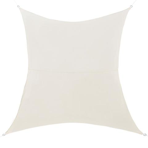 En.Casa Tenda A Vela Protezione Raggi Uv E Vento Impermeabile 2X4M Color Sabbia