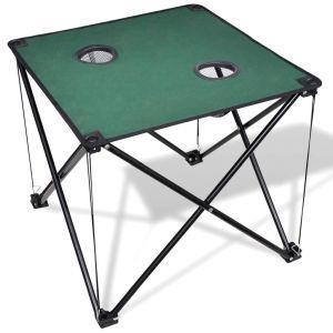 vidaxl tavolo da campeggio pieghevole verde scuro