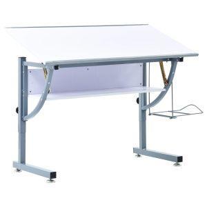 vidaxl tavolo da disegno per ragazzi bianco 110x60x87 cm in mdf