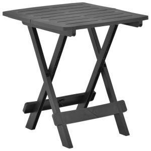 vidaxl tavolo da giardino pieghevole antracite 45x43x50 cm in plastica