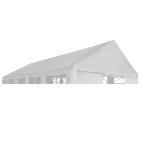 vidaxl tetto per tendostruttura 4 x 8 m bianco