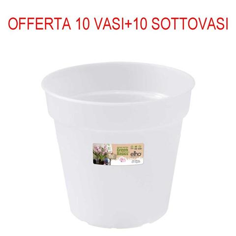 elho 10 vasi per orchidee 15cm+sottovasi trasparenti opachi