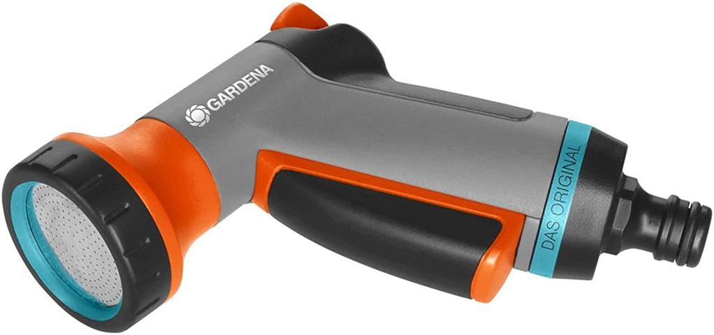 gardena 18405-20 ugello atomizzatore per pistola ad acqua da giardino ugello a spruzzo d'acqua da giardino blu, grigio, arancione