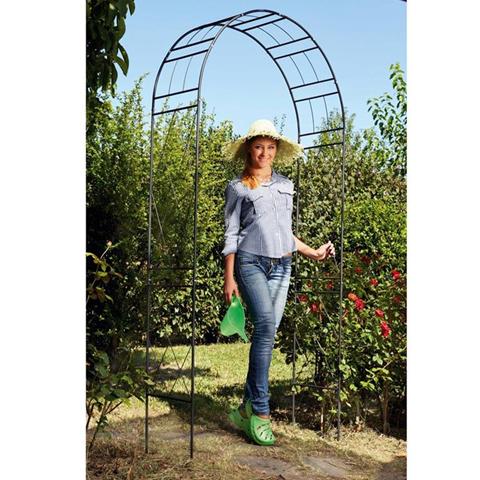 nd arco in acciaio da giardino cm 110x35x225 verdemax rose piante