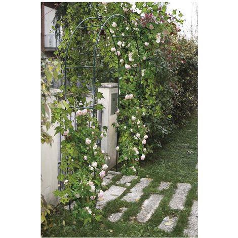 nd arco in ferro per rampicanti e ingresso giardino piante cm 37x130xh240 verdemax