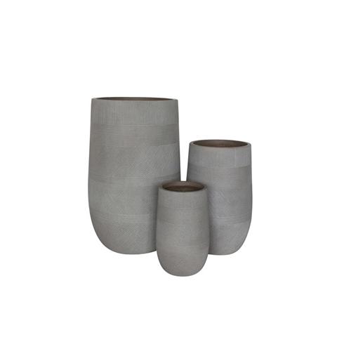 milani home miguel. set di 3 vasi