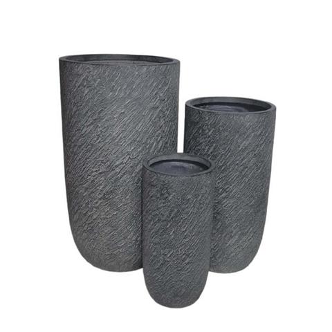 milani home silvia. set di 3 vasi