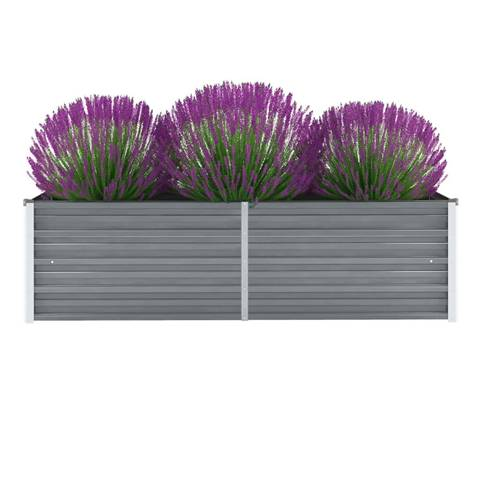 vidaxl letto rialzato giardino in acciaio zincato 160x40x45 cm grigio