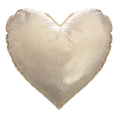 Atmosphera Cuscino per cameretta bambini SERCE, lucido, 37 x 37 cm, oro