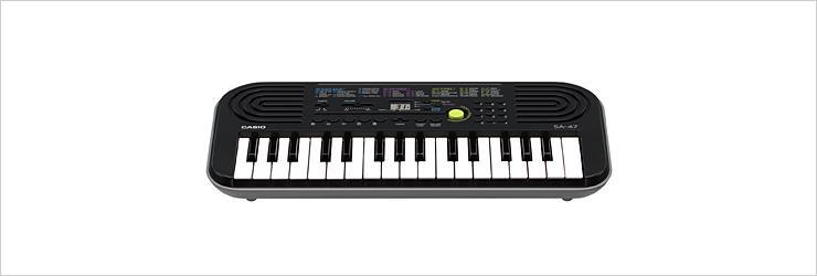 Casio SA-47 tastiera MIDI 127 chiavi Nero, Grigio