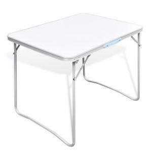 vidaxl tavolo da campeggio pieghevole con telaio in metallo 80x60 cm