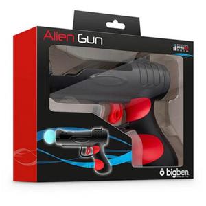 Bigben Interactive Move Alien Gun, PS3 Pistola Playstation 3 Nero, Rosso
