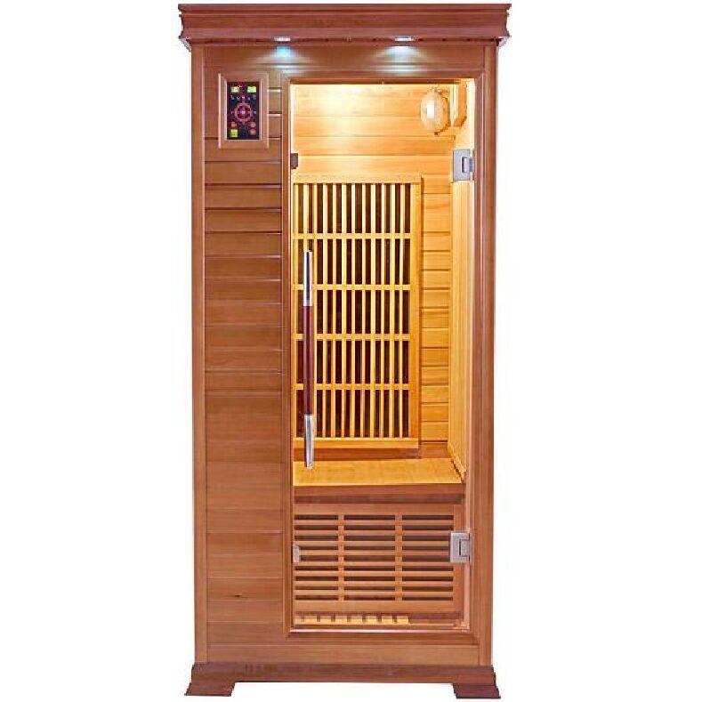 Sauna infrarossi 1 posto Aira 94 x 90 CM in Cedro Rosso Canadese