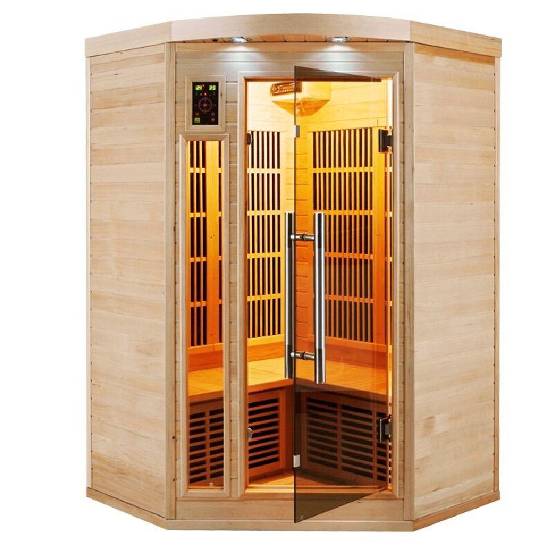 Sauna ad angolo a infrarossi 2 o 3 posti Timo in Abete