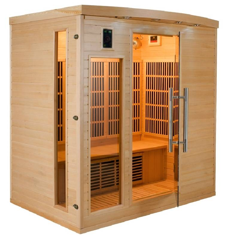 Sauna infrarossi Timo in legno di Abete 4 persone