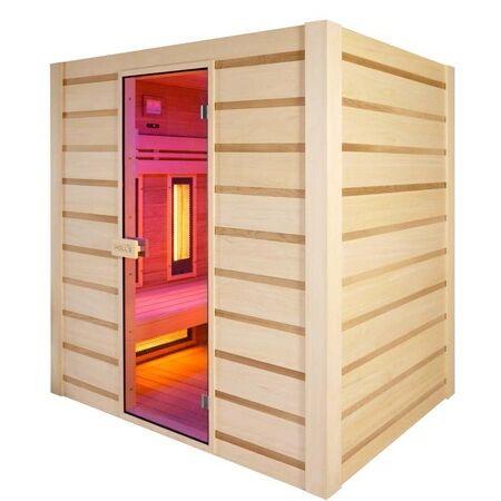 Sauna Holl's Graphite Hybrid combinata infrarossi Dual Healty e finlandese 3 posti
