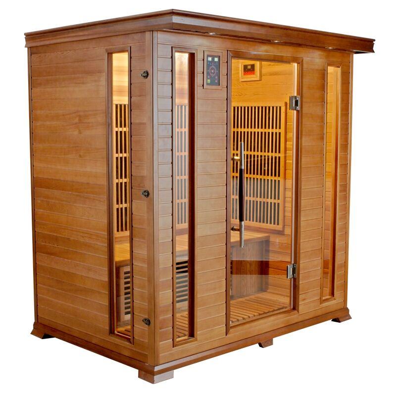 Sauna infrarossi 4 posti Aira 175 x 120 CM in Cedro Rosso Canadese
