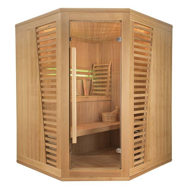 Sauna angolare Finlandese Design Holl's Venetian 3/4 posti