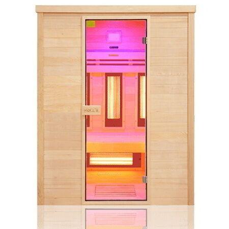 Sauna ad infrarossi 3 posti con emettitori Quarzo e Magnesio Wave