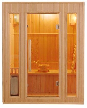 Sauna 3 posti Finlandese in Abete Canadese Ten 153 x 110 CM
