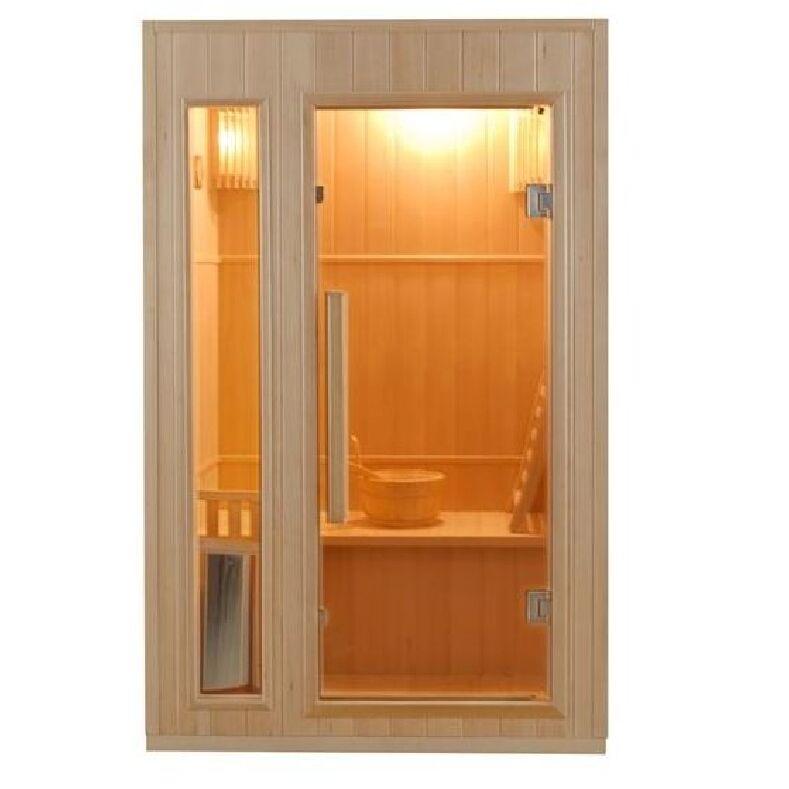 Sauna Finlandese 2 posti 120 x 110 CM in Abete Canadese Ten