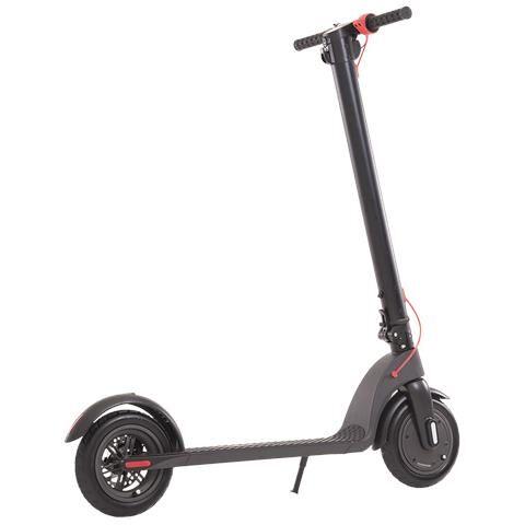MES Monopattino Elettrico E-scooter 250 W Pieghevole, Batteria Estraibile Collocata Nel Manubrio, Luce Posteriore Ed Anteriore, Display Led Multifunzione. Ruote 8,5 Pollici