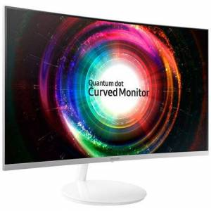 Samsung Monitor Curvo C27H711 Monitor Curvo 27'' Quantum Dot WQHD, 2K per Designer, Cornice Sottile, 2560 x 1440, 4 ms, FreeSync, Mini-DisplayPort, HDMI, Bianco