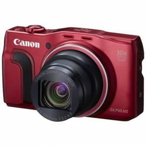 Canon PowerShot SX710 HS Rosso Sensore CMOS 20Mpx Zoom Ottico 30x Display 3'' Filmati Full HD Wi-Fi / NFC GPS