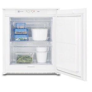 Electrolux Congelatore Verticale EUN0600AOW da Incasso Classe A+ Capacità Lorda / Netta 62/53 Litri