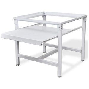 Vidaxl Supporto Alzatina Con Mensola Estraibile Per Lavatrice Bianco