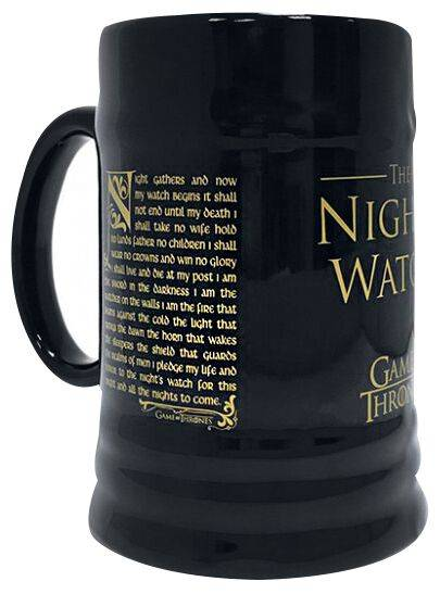 MGS23835 Game Of Thrones Night's Watch Boccale birra nero