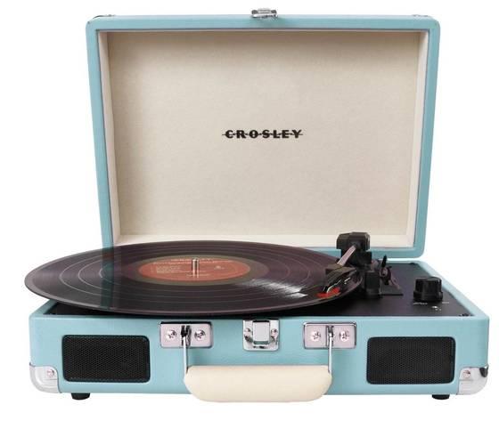 crosley giradischi  portatile  cruiser deluxe turchese bluetoot stile vintage