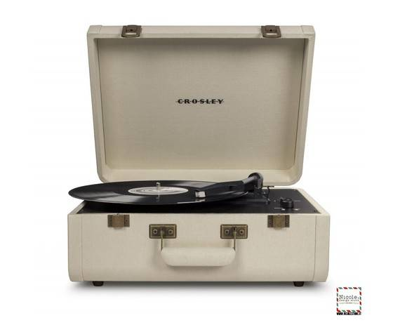 crosley giradischi  portatile valigetta portfolio cream marca    stile vintage
