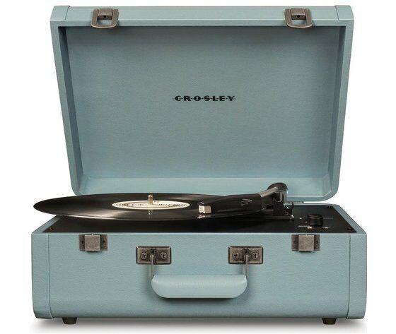crosley giradischi  portatile valigetta portfolio tourmaline marca    stile vintage