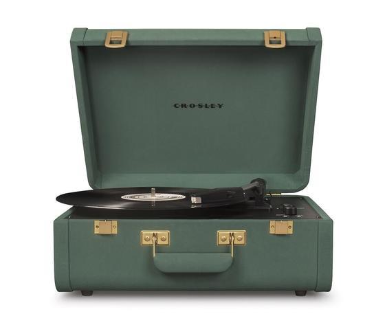 crosley giradischi  portatile valigetta portfolio quetzal marca    stile vintage