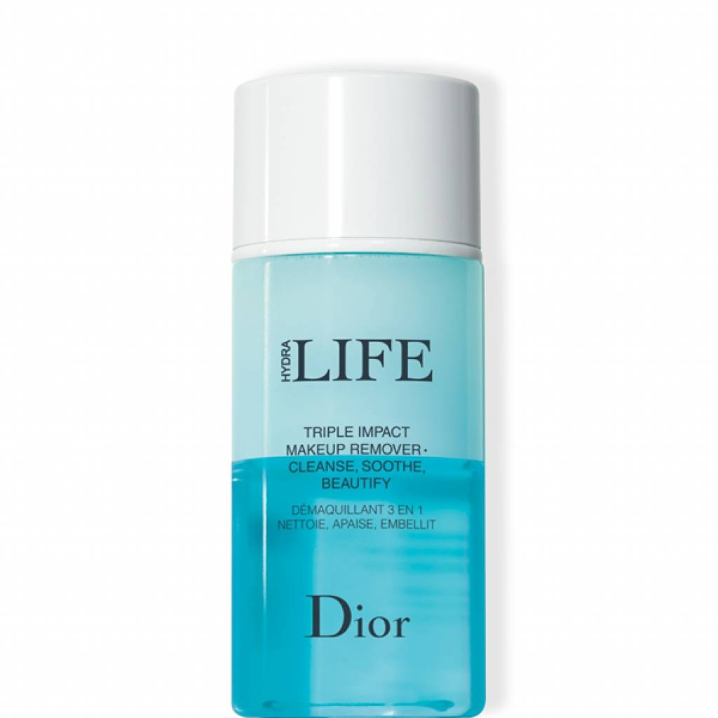 christian dior hydra life triple impact makeup remover struccante 3 in 1 deterge, lenisce, valorizza 125 ml